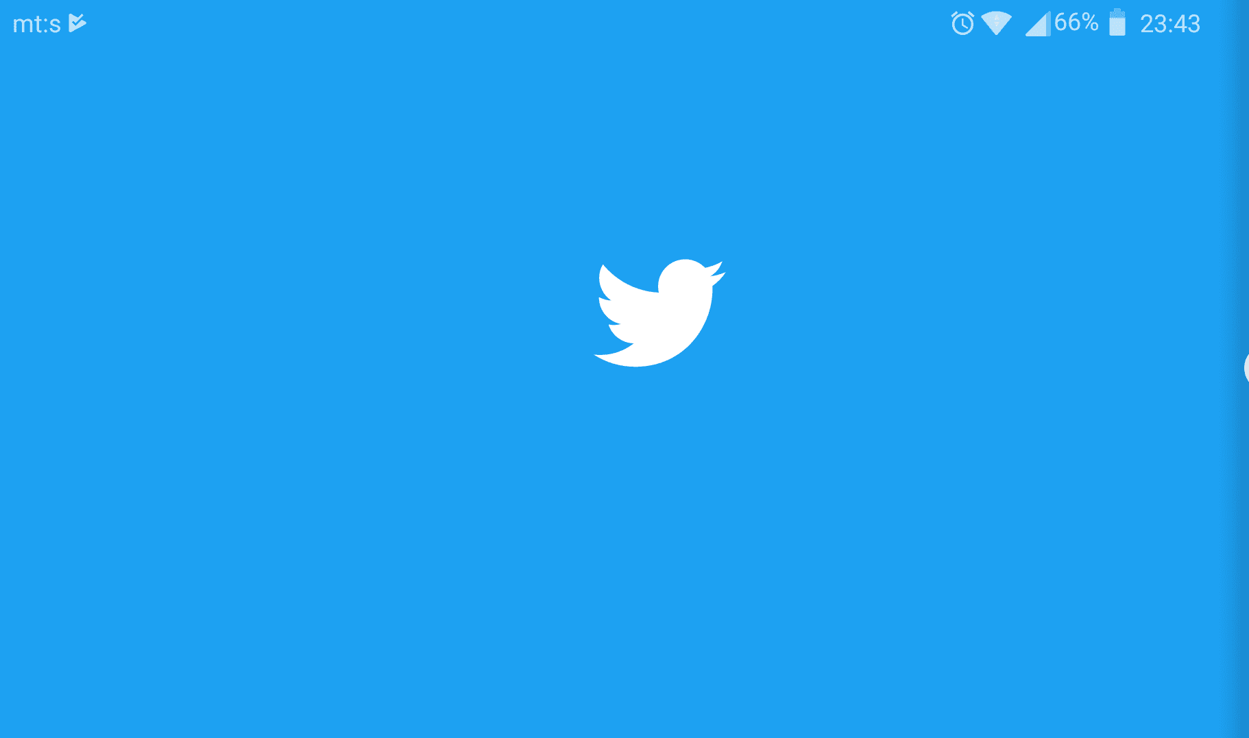 twitter android widget doesn't update